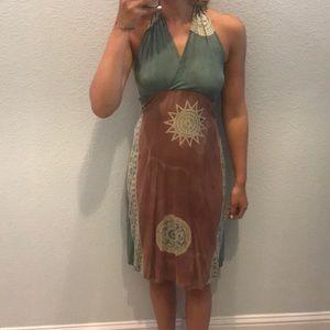 Stylish halter dress
